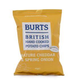 Burts Mature Cheddar and Spring Onion Crisps 40g