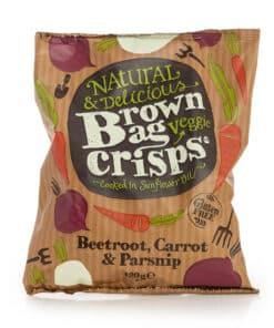 brown bag veggie crisps