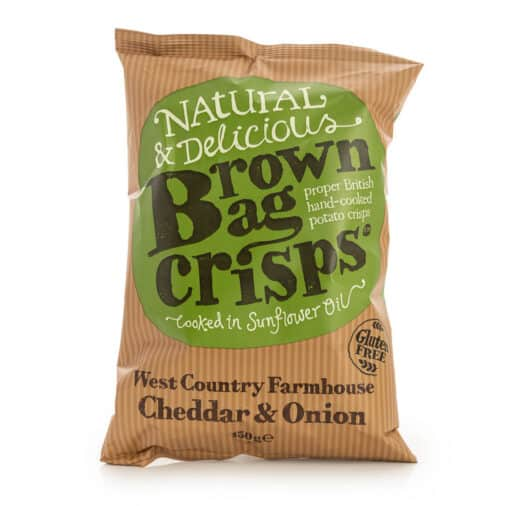 cheddar and onion brown bag crisps